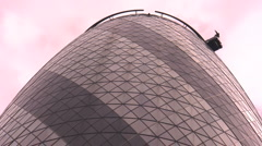 Gherkin building low angle Stock Footage