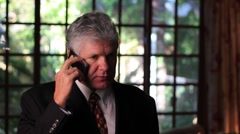 MAN TALKING ON CELL PHONE 2 Stock Footage