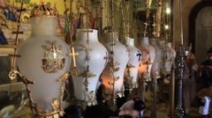 Stock Video Footage of Church of the Holy Sepulchre in Jerusalem, Israel