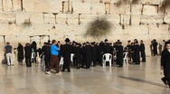 Stock Video Footage of The Wailing Place of the Jews. Wailing Wall (Western Wall).