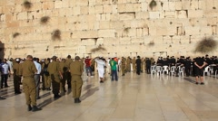 Stock Video Footage of Wailing Wall (Western Wall). The Wailing Place of the Jews.
