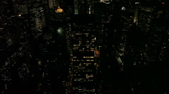 New York City Skyline - Pan up Stock Footage