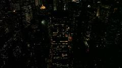 New York City Skyline - Pan up Stock Footage