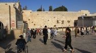 The Wailing Place of the Jews. Wailing Wall (Western Wall). Stock Footage