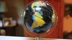 EARTH GLOBE TURNING Stock Footage