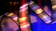 Stock Video Footage of Swirling Filmstrip 3