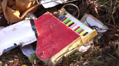 Dumped Kids Piano Toy Stock Footage