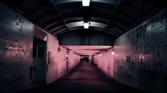 Scary Tunnel ARTCOLORED 02 Stock Footage