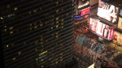 Times Square Time Lapse Night Stock Footage