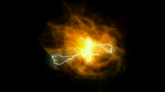 Fireball power energy lightning,science technology,smoke particles explosion. Stock Footage