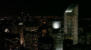 New York City Skyline at Night Stock Footage