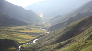 Stock Video Footage of Mountains and valley in the Sapa region, Vietnam.