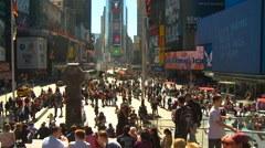 New York City, crowded Times square from 20' above Stock Footage