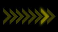 Direction arrow queue design sign background,signal process backdrop. Stock Footage