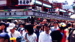 Asakusa Market Tokyo during the Golden Week in 2010 graded 1 Stock Footage