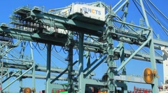 PROFILE CARGO CONTAINER BEI Stock Footage