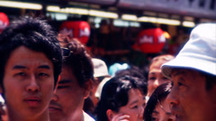Asakusa Market Tokyo during the Golden Week in 2010 graded 3 Stock Footage