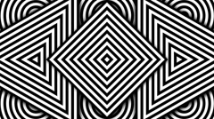 Stock Video Footage of Hypnotic Black and White Shapes, PAL