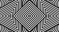 Hypnotic Black and White Shapes, PAL Stock Footage