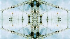 Crane pattern smalls Stock Footage