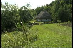 Village, houses,  farm Stock Footage