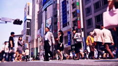 Ginza Tokyo Street during the Golden Week in 2010 graded 12 Stock Footage