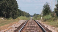 Stock Video Footage of Railroad track in simmering heat