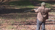 Stock Video Footage of Shotgun Kid Sport Hunting