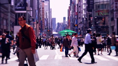 Ginza Tokyo Street during the Golden Week in 2010 graded 15 Stock Footage