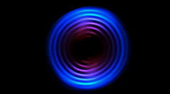 Abstract tech turbine round circle hole,ring round time tunnel,energy tech. Stock Footage