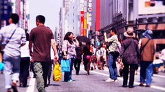 Ginza Tokyo Street during the Golden Week in 2010 graded 13 Stock Footage