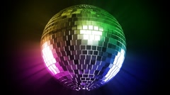 Disco ball and color ray  Stock Footage