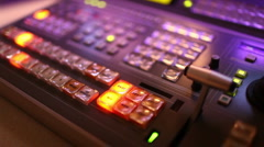 Broadcast Vision mixer Stock Footage