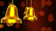 Stock Video Footage of Three Golden Bells Slinged