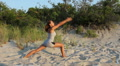 Young Female Doing Yoga Poses HD Footage