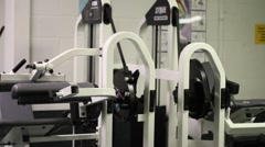 Weight room Stock Footage