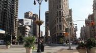 Flatiron Building in Manhattan - Panning Stock Footage