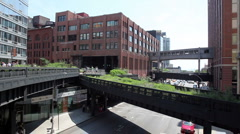 The High Line in New York City Stock Footage