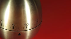 Egg Kitchen Timer on a Red Table - stock footage