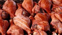 Turkey legs at the fair Stock Footage