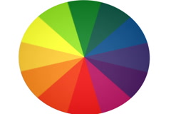 Spinning Color Wheel (Contains Looping Section) NTSC Stock Footage