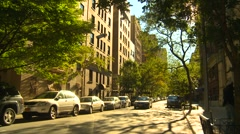 New York City, Central Park west, wide shot Stock Footage