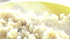 Hot Bowl of Oatmeal - stock footage