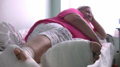 Sick diabetic woman  Full HD 1080p Stock Footage