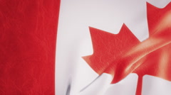 Slow Motion Canadian Flag Intro HD Stock Footage