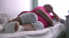 Sick diabetic woman Full HD 1080p - stock footage