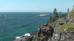 Northern shore of Great Lake Superior - stock footage