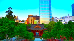 Tokyo Old and New ARTCOLORED 02 - stock footage