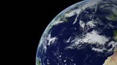 Earth Animation 14 over northern hemisphere. Part 2 of 4 - stock footage
