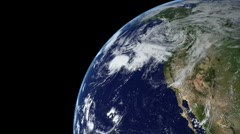 Earth Animation 15 over northern hemisphere. Part 3 of 4 Stock Footage